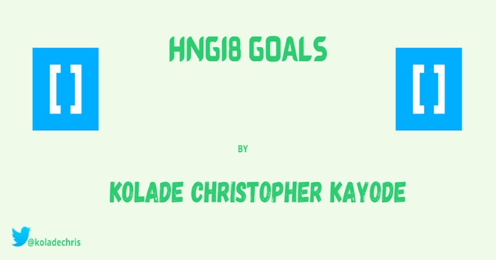 My HNGi8 Goals