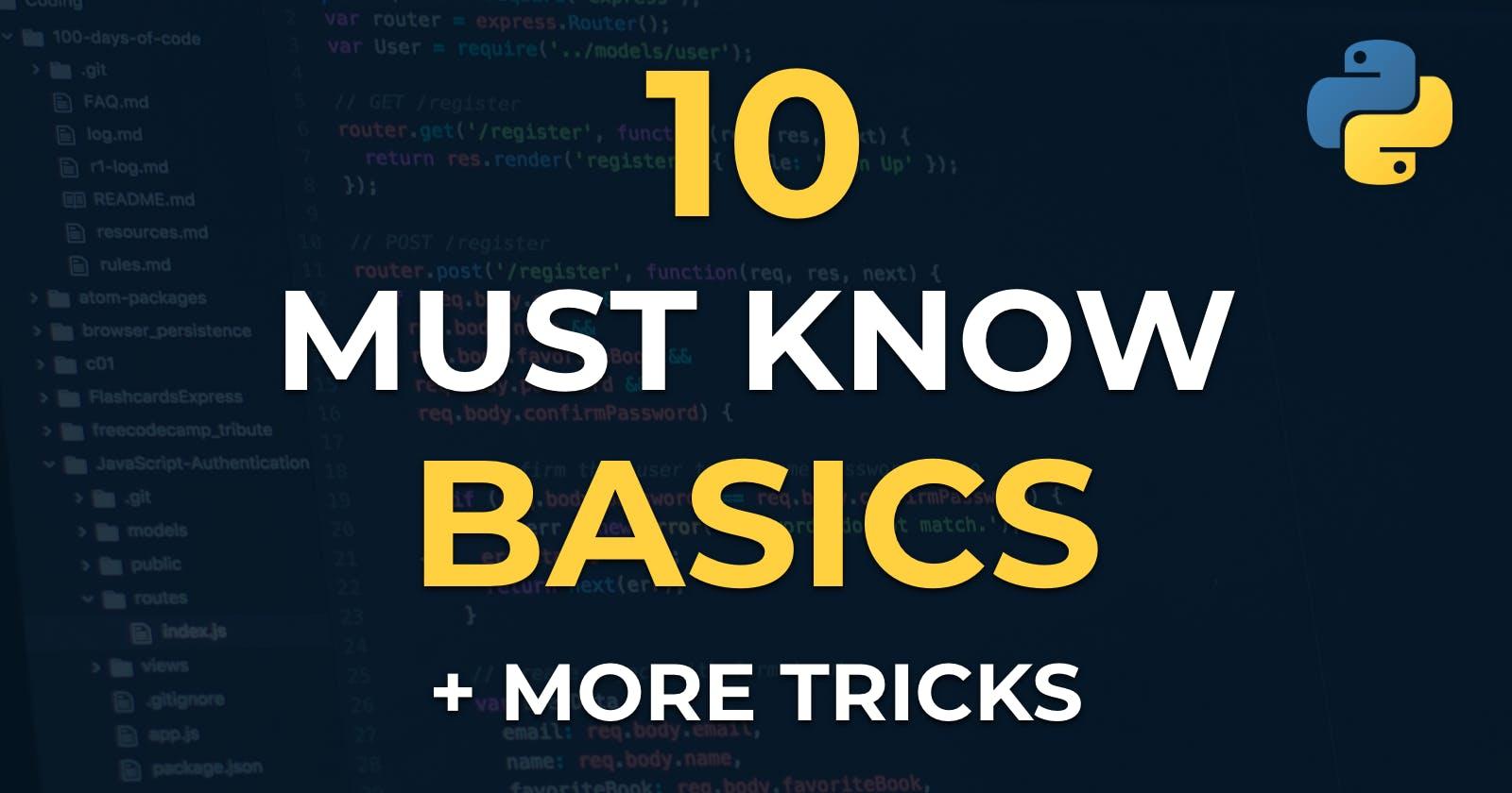 10 Python Basics You Should Know!