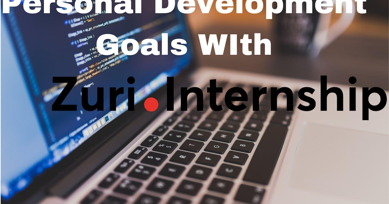 Personal Development Goals With Zuri Internship