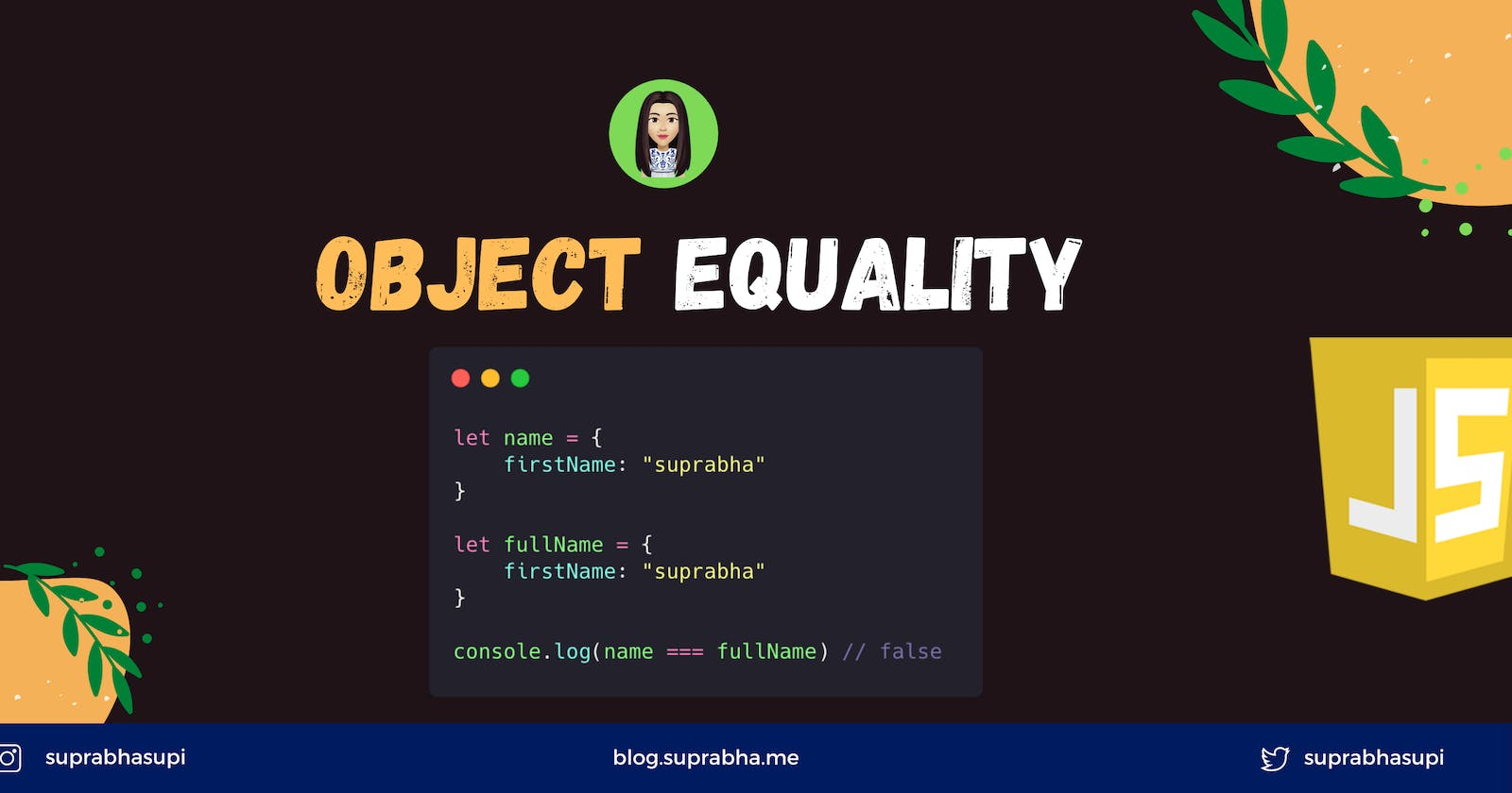 Object Equality in JavaScript