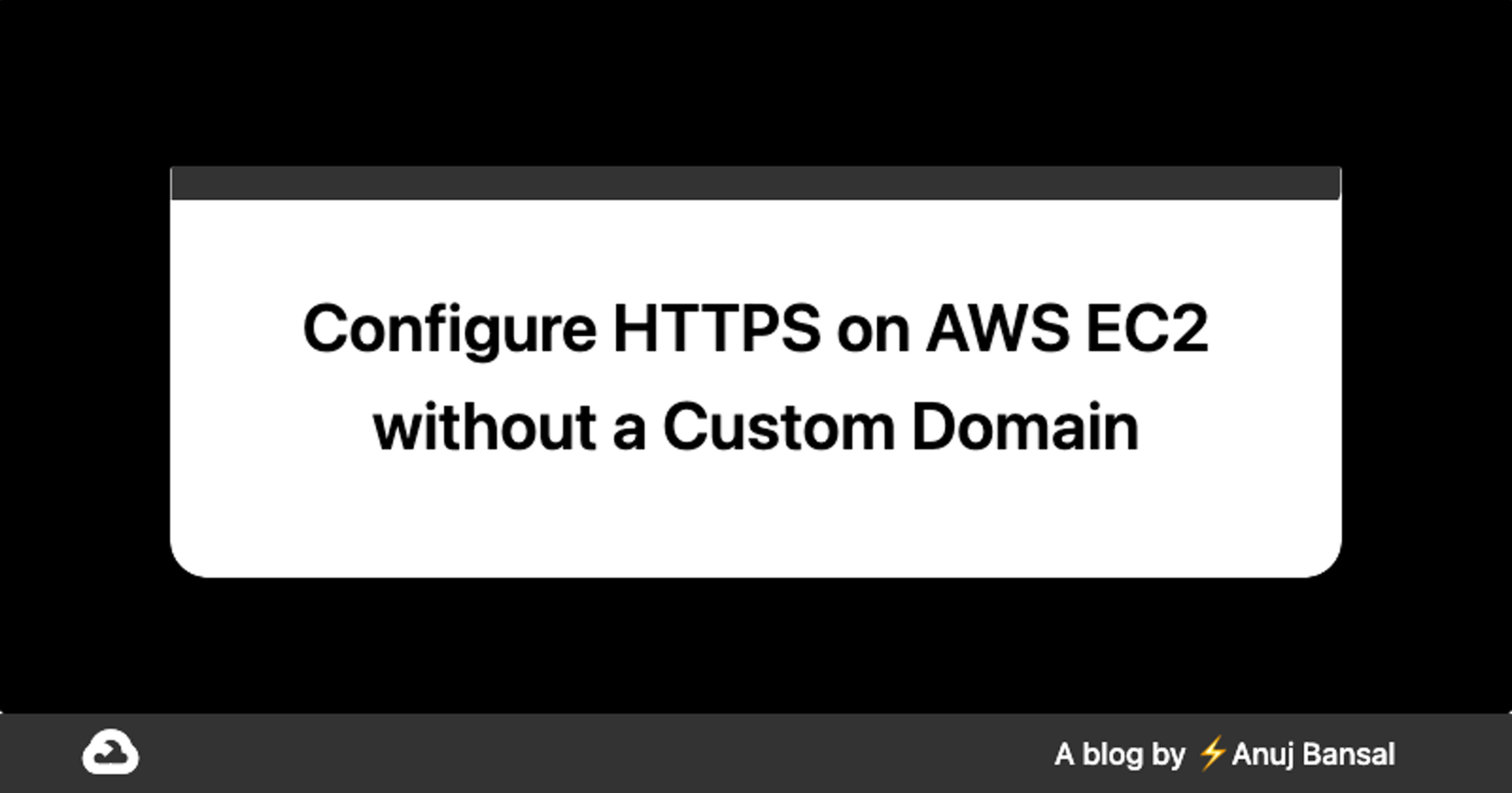 Configure HTTPS on AWS EC2 without a Custom Domain