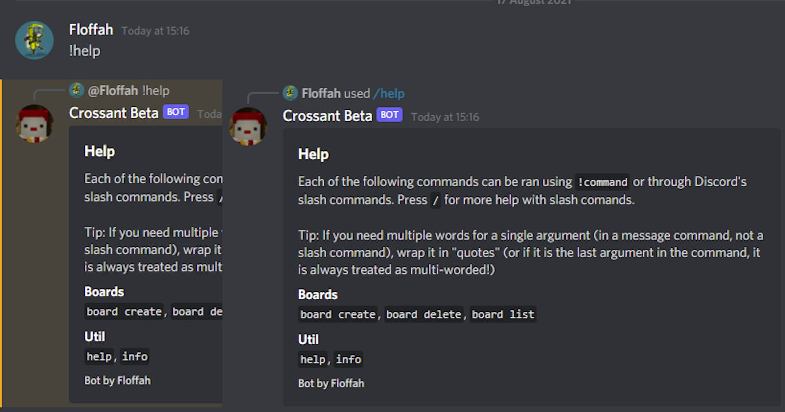 Using a single codebase for Discord slash commands & message commands
