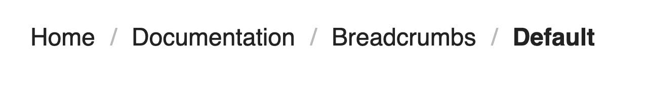 Breadcrumbs example