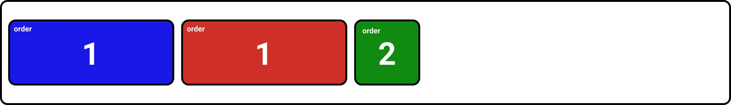 CSS flexbox without order