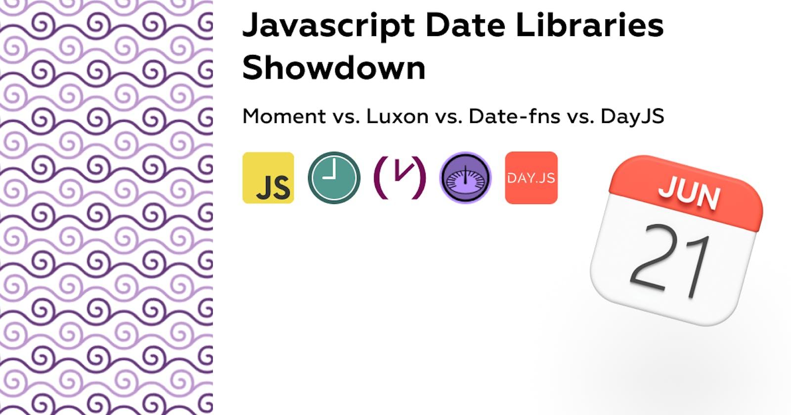 Javascript Date Libraries Showdown