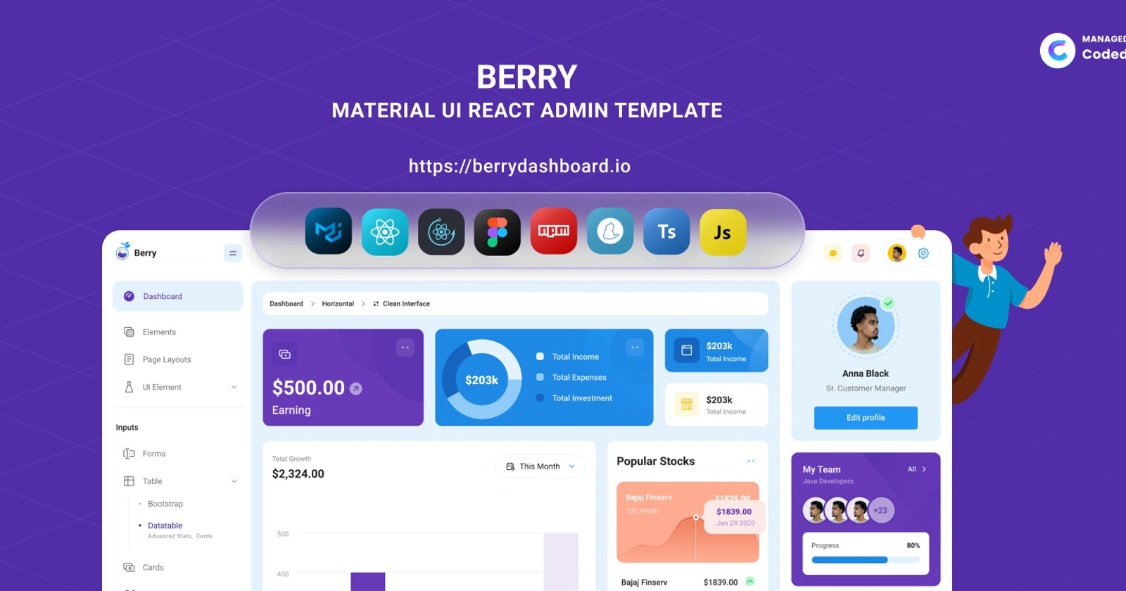 Introducing Berry React Admin Template