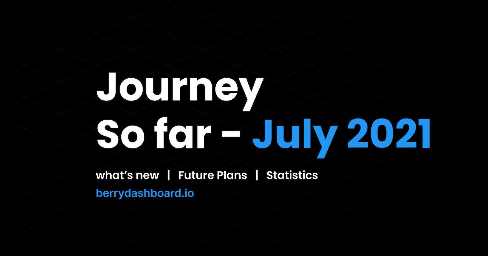 Journey So far - July 2021