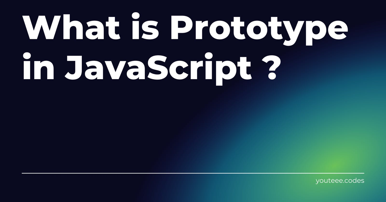 Introduction to JavaScript Prototypes