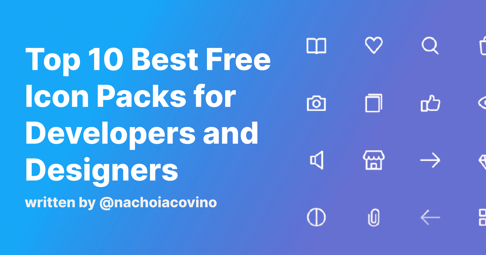 Top 10 Best Free Icon Packs for Developers and Designers