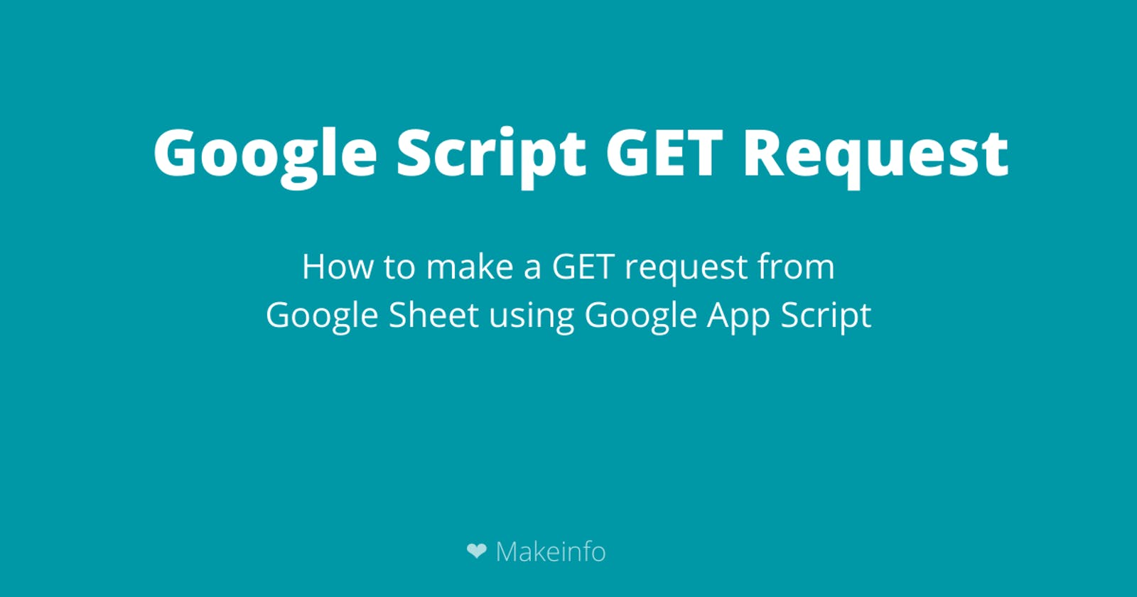 Google Script GET Request