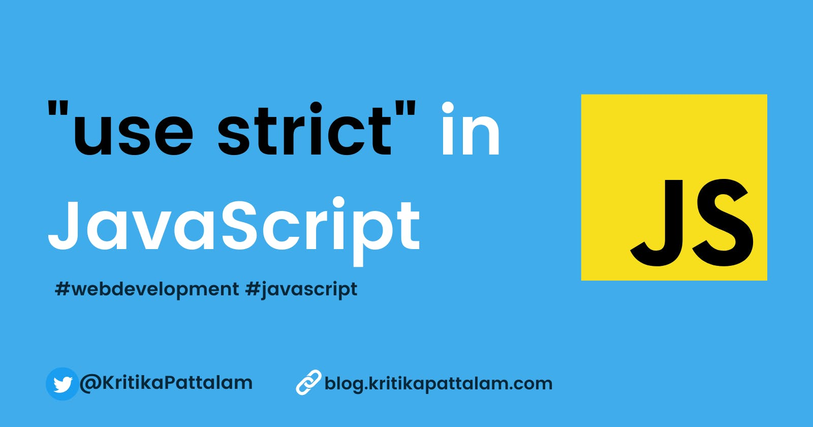 """Do you know what """"use strict"""" does in JavaScript ?"""