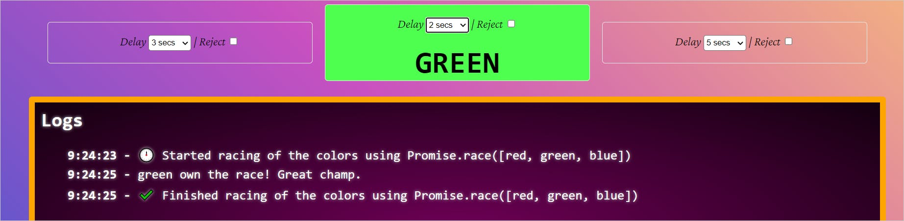 race green wins