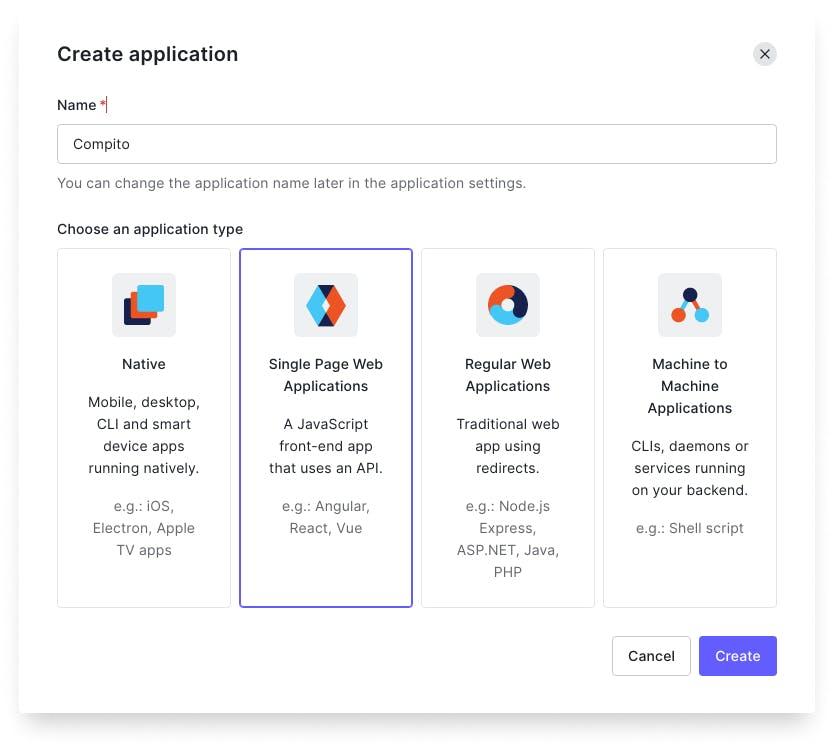 Auth0 Create App