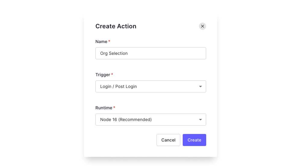 Auth0 Action