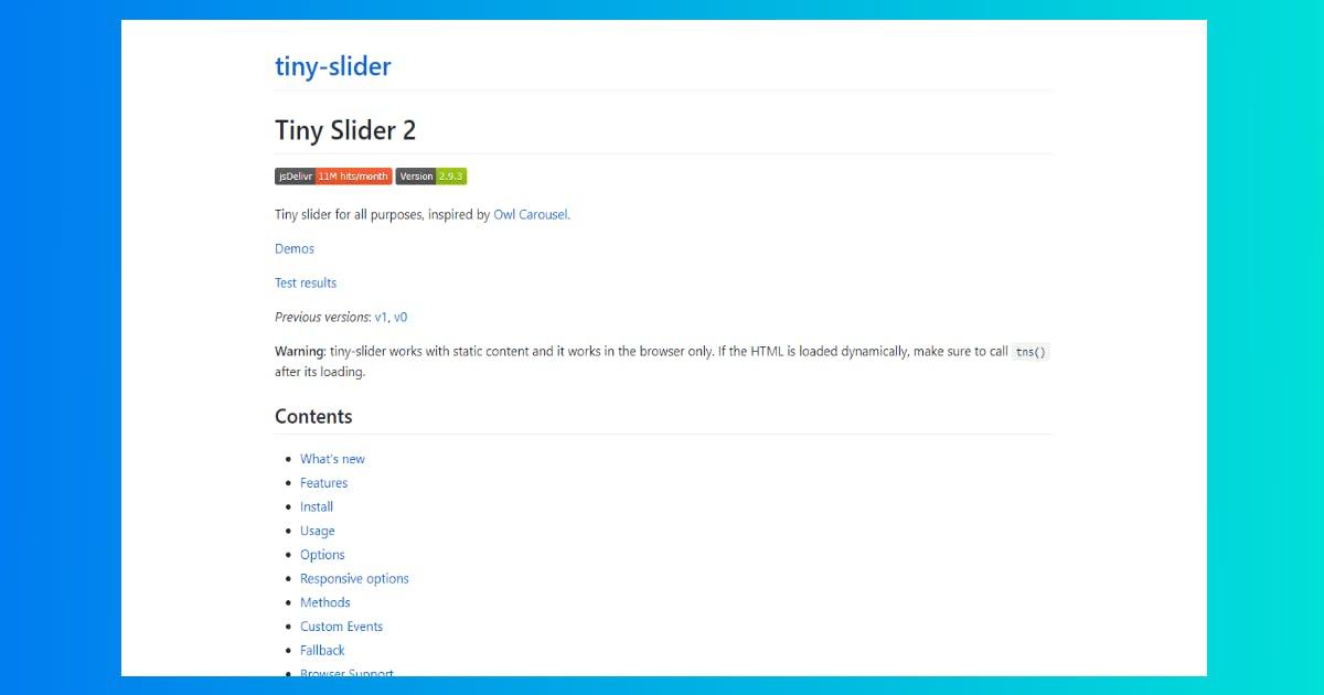 Tiny Slider 2