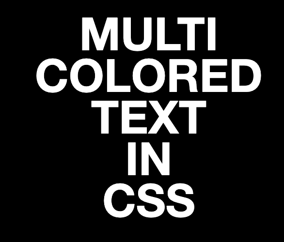 CSS Every word on its own line