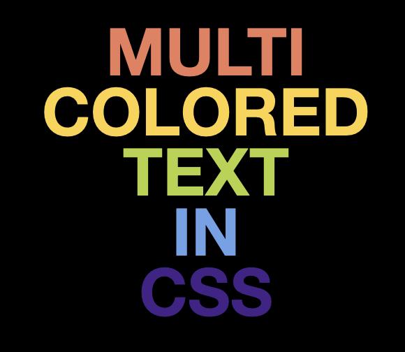 CSS Multi-coloured gradient effect