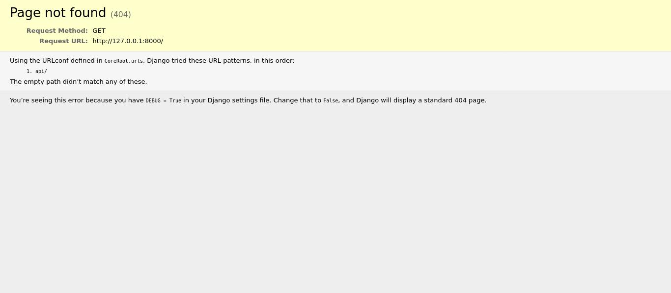 Django Server Well Running