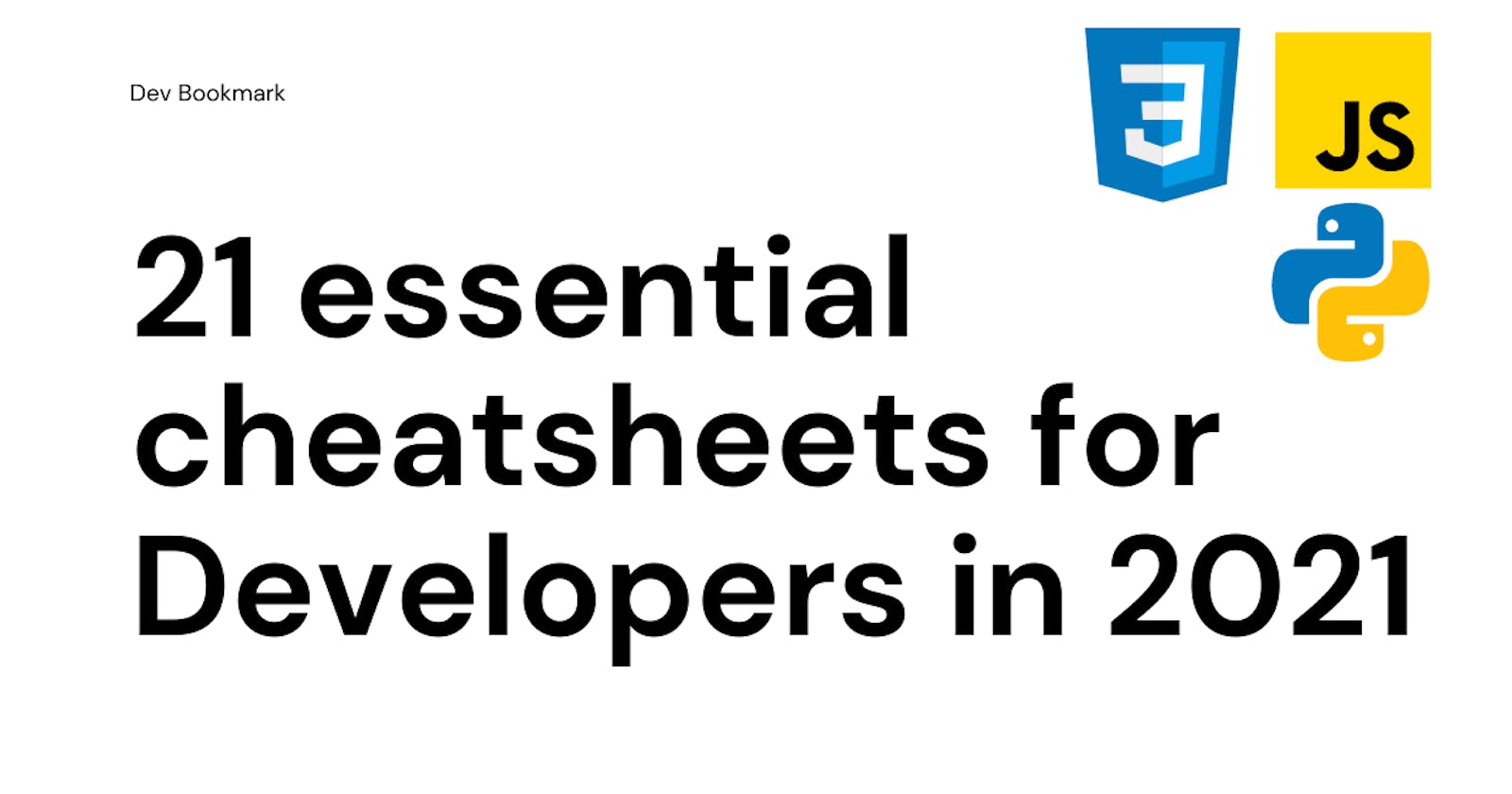 21 essential cheatsheets for Developers in 2021