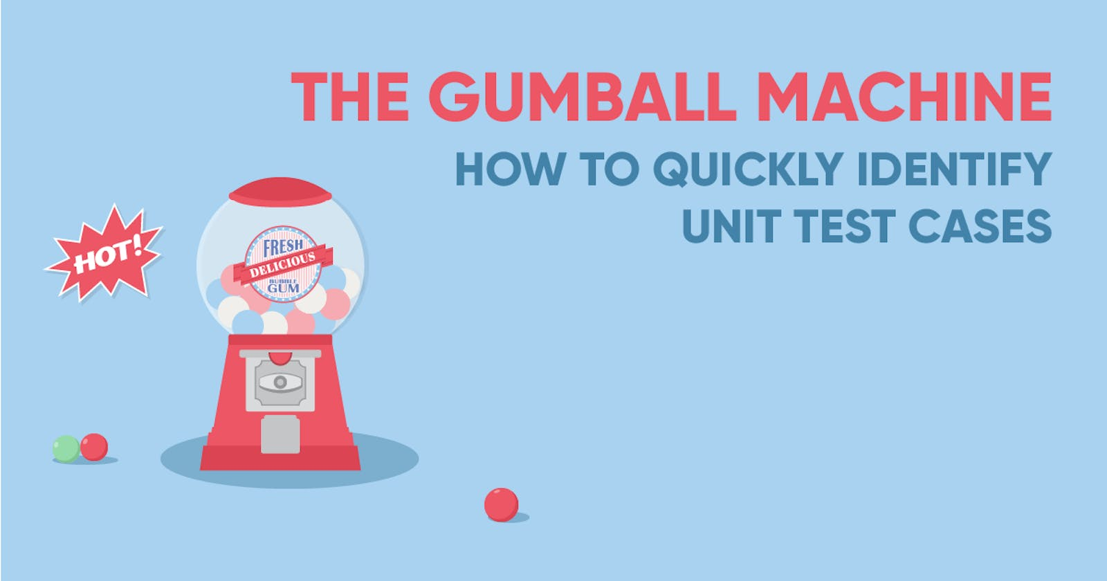 The Gumball Machine: How To Quickly Identify Unit Test Cases