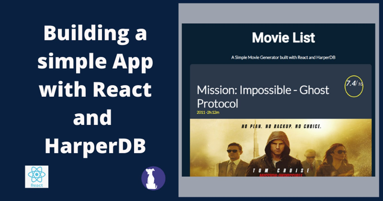 React Tutorial - Build a Movie List Generator with React and HarperDB