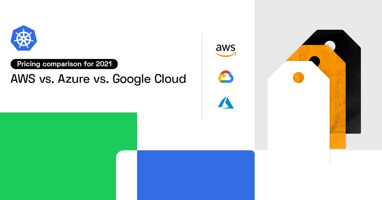 Ultimate cloud pricing comparison: AWS vs. Azure vs. Google Cloud in 2021
