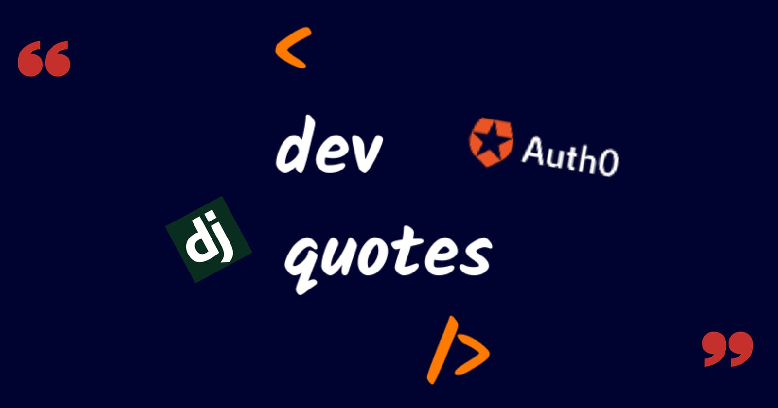Dev Quotes: A platform for developers to quote and get inspired -Auth0 x Hashnode Hackathon