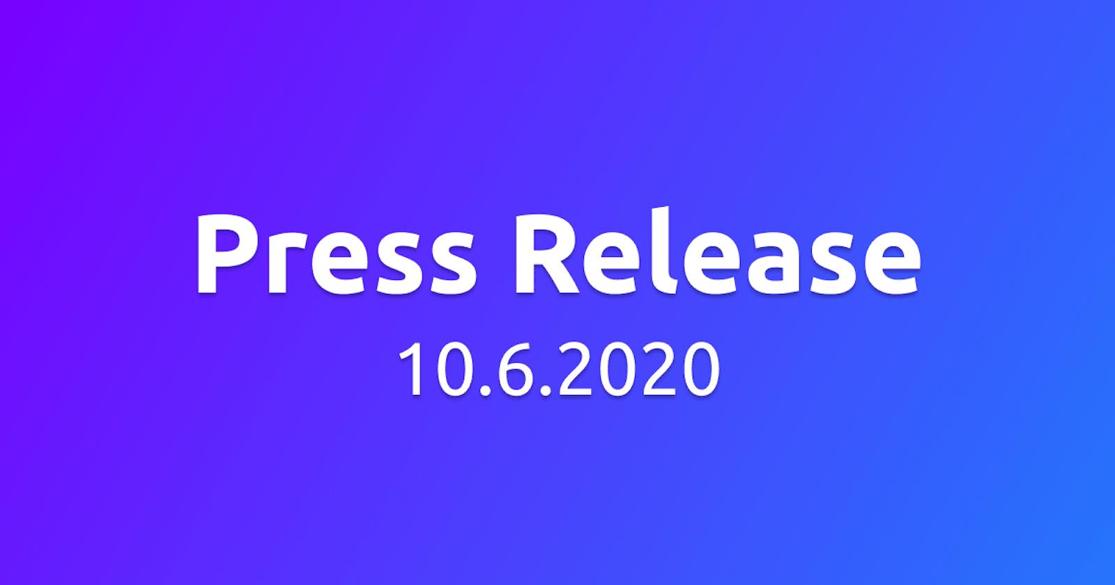 Press Release - 10.6.20