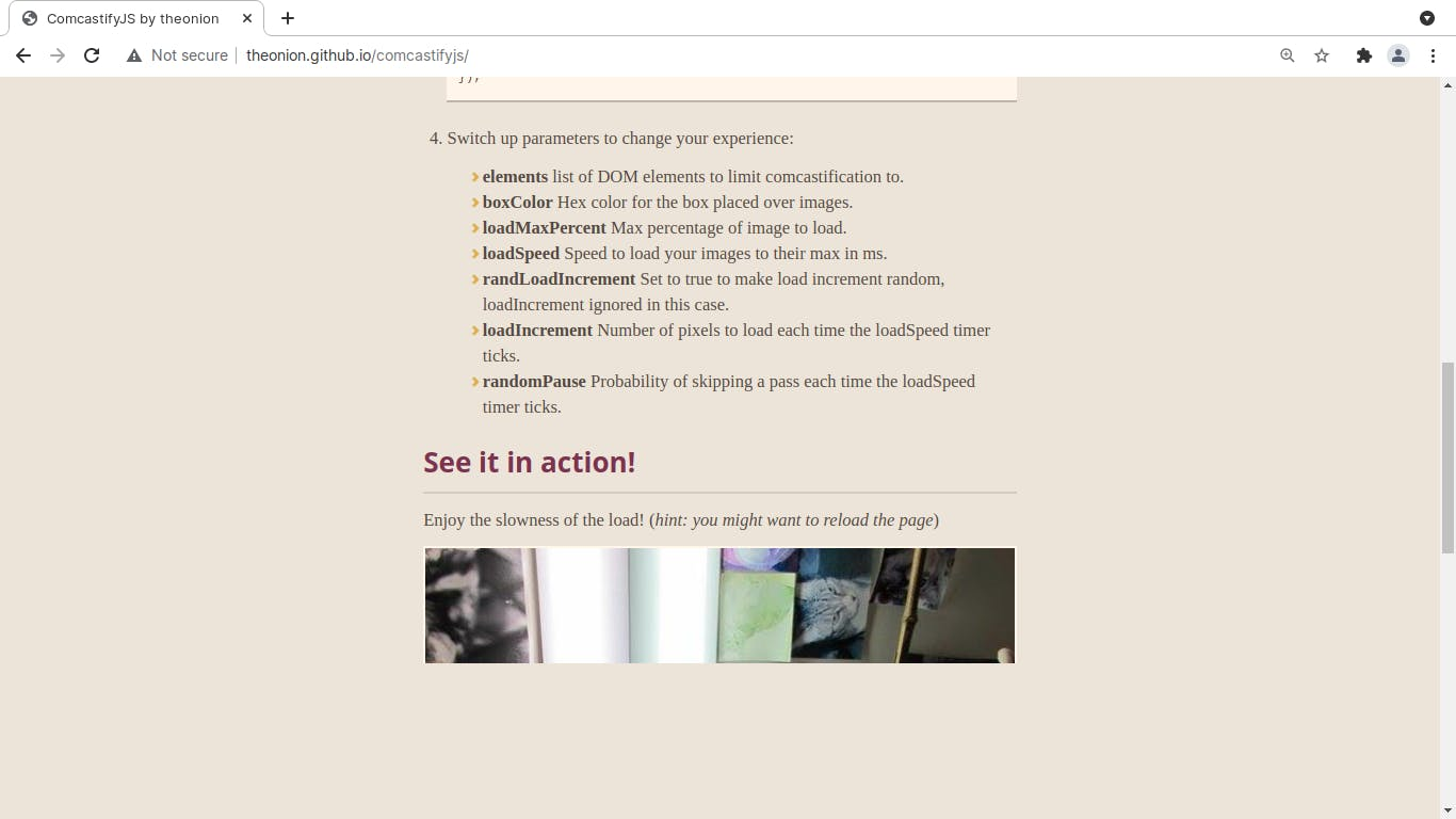comcastifyjs website