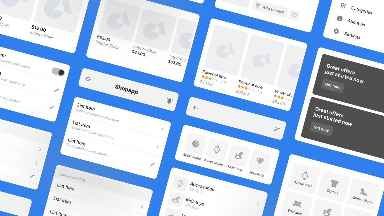 E-commerce UI Kit - Components