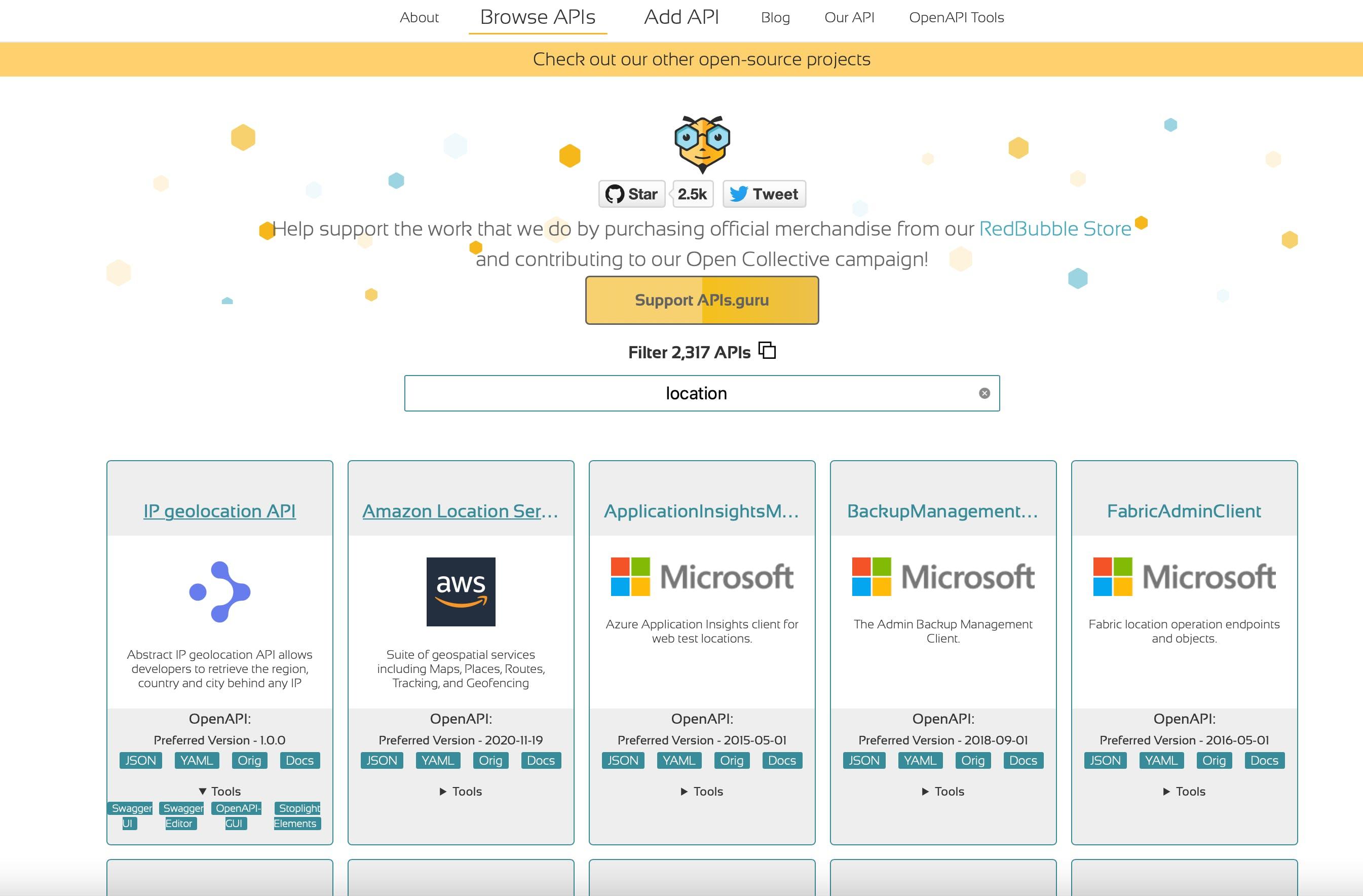 OpenAPI Directory from apigurus.com