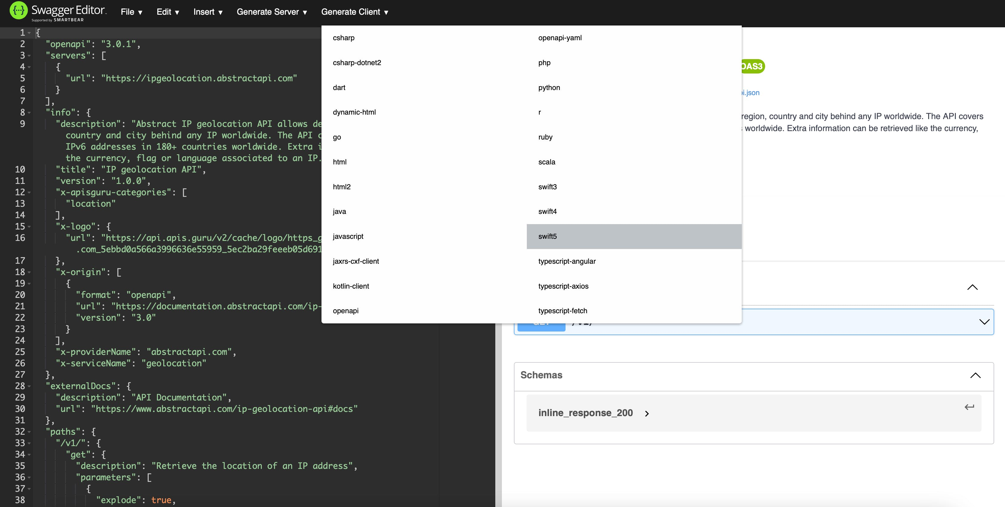 Swagger Codegen use in browser