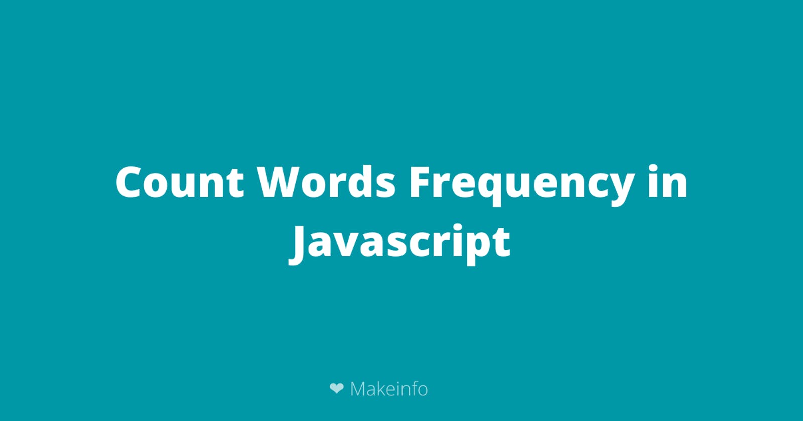 Count words frequency using Javascript
