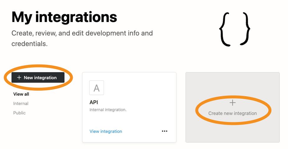 Notion new integration