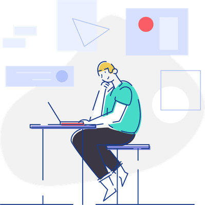 Vector Illustration of a person presenting