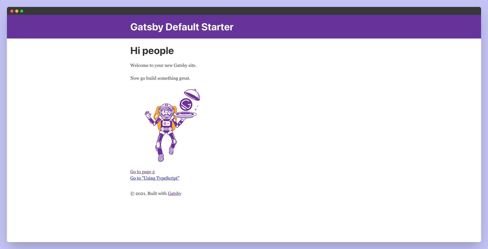 Gatsby Default Template