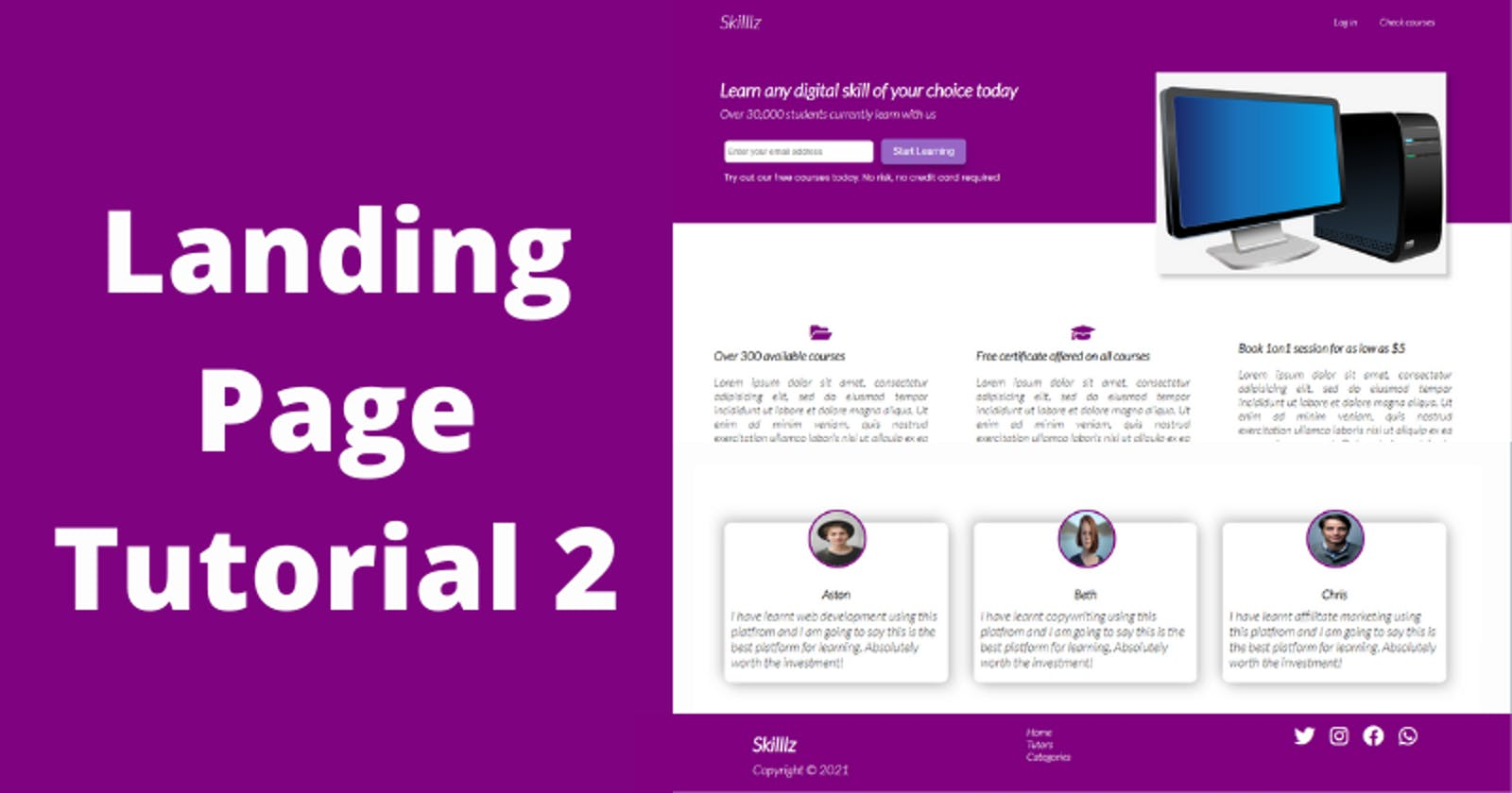 CSS Tutorial - How to Make a Page Responsive using CSS Media Queries
