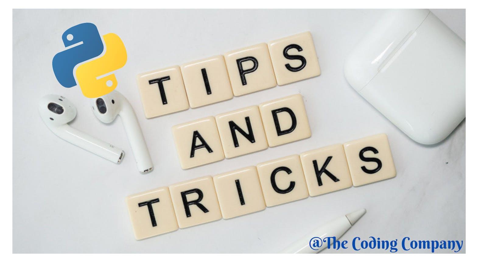10 Useful Python Tips and Tricks✨
