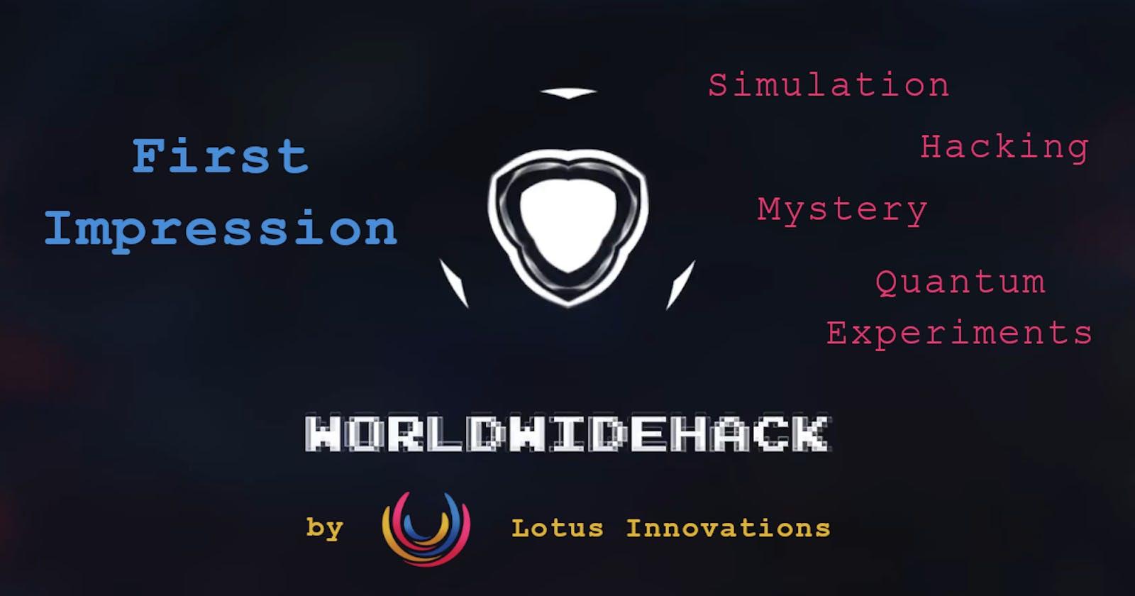 World Wide Hack - Alpha First Impression
