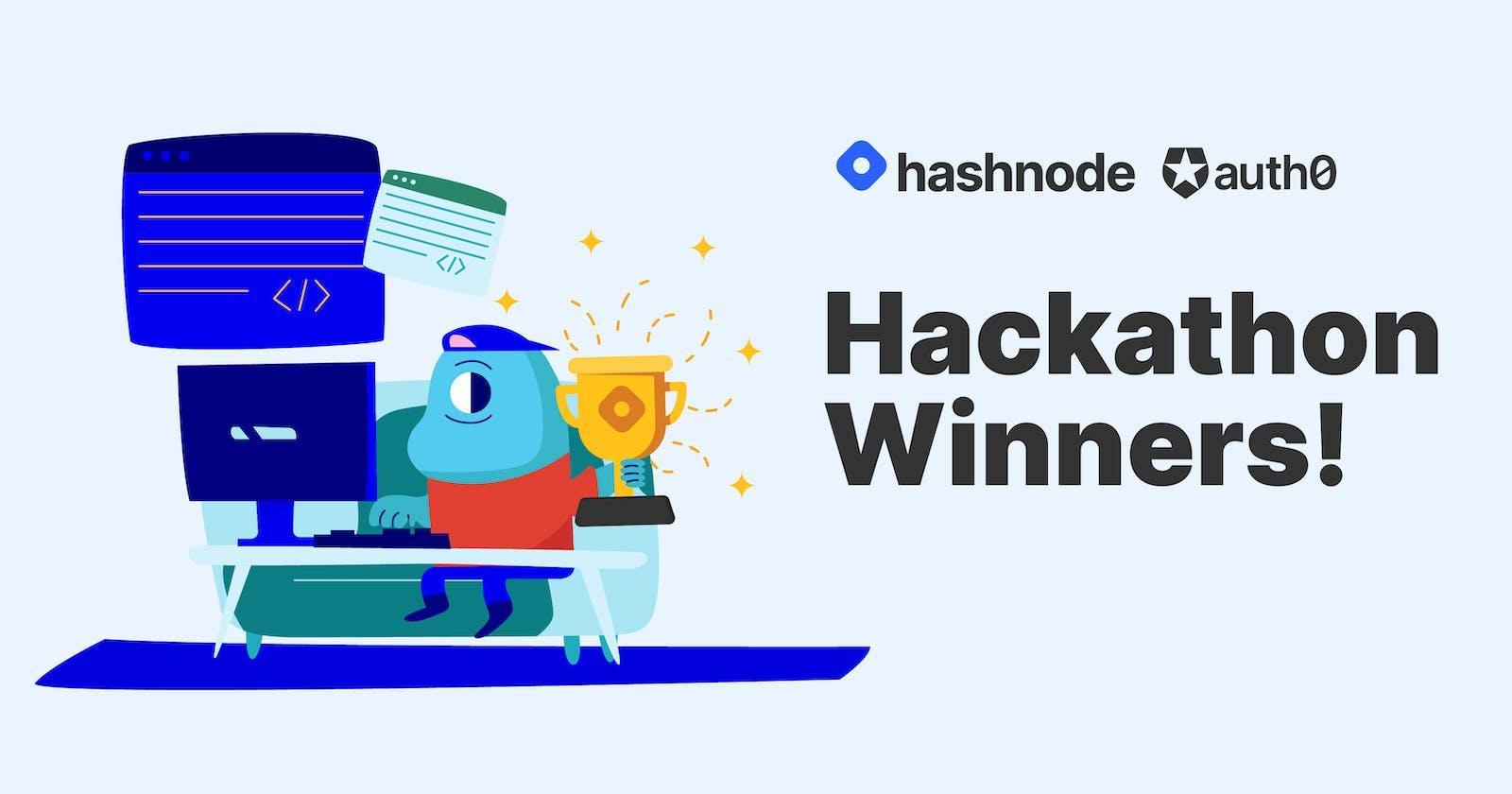 Auth0 + Hashnode Hackathon Winners 🎉