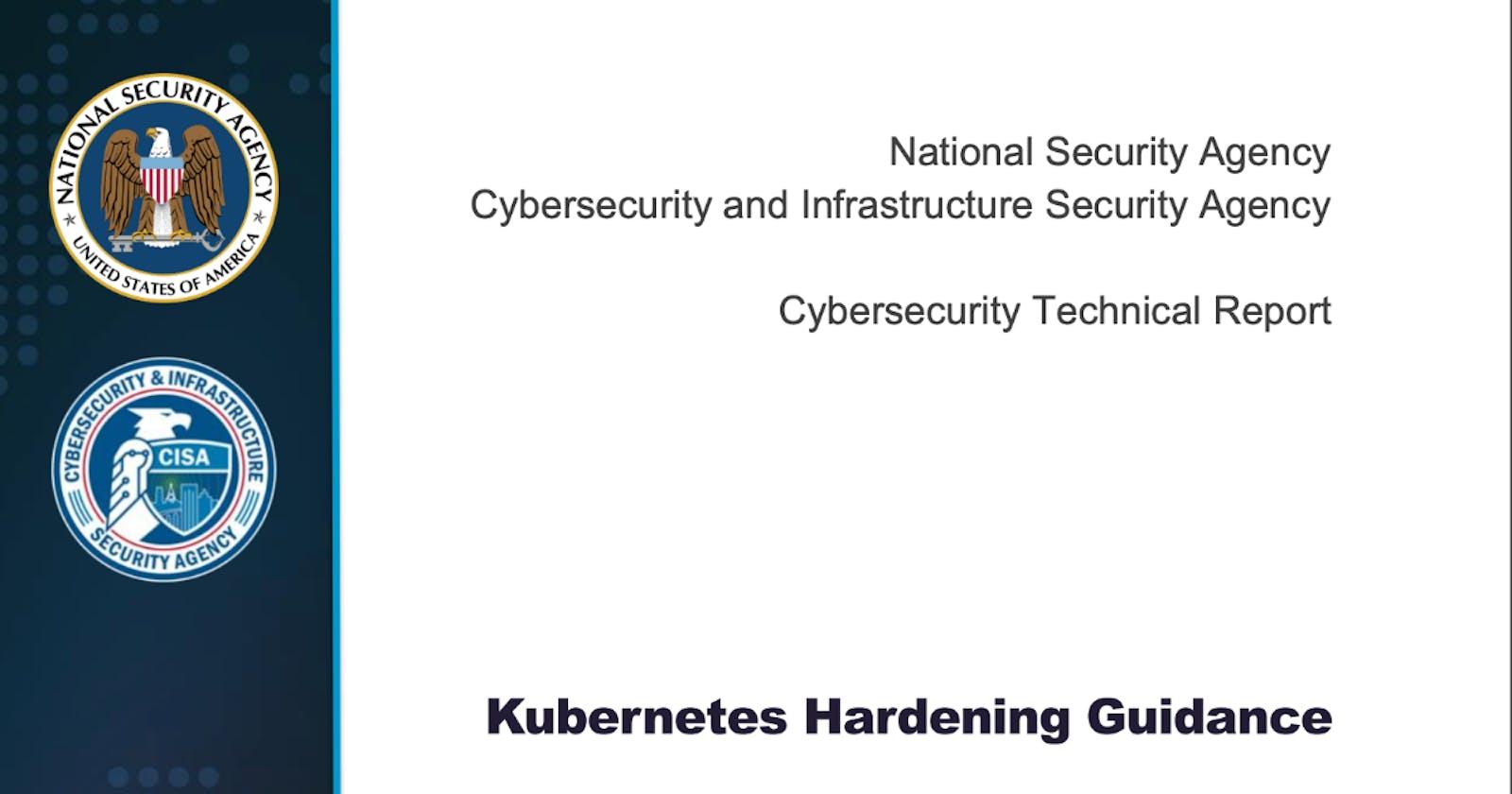 Kubernetes Security Hardening Guidance