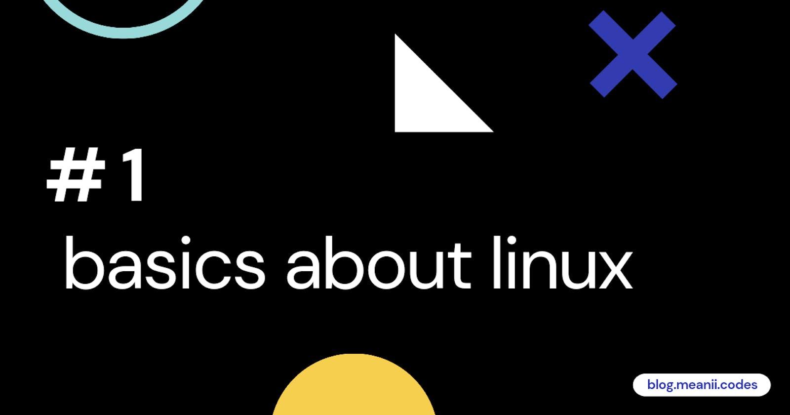 # 1 Basics about linux