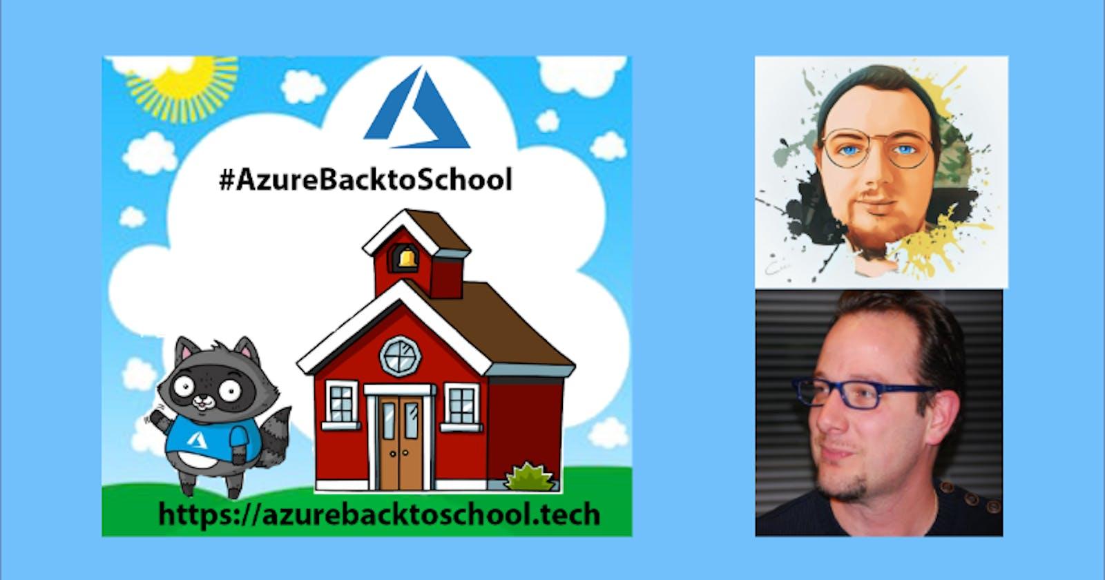 Azure Back to School Event with Peter De Tender
