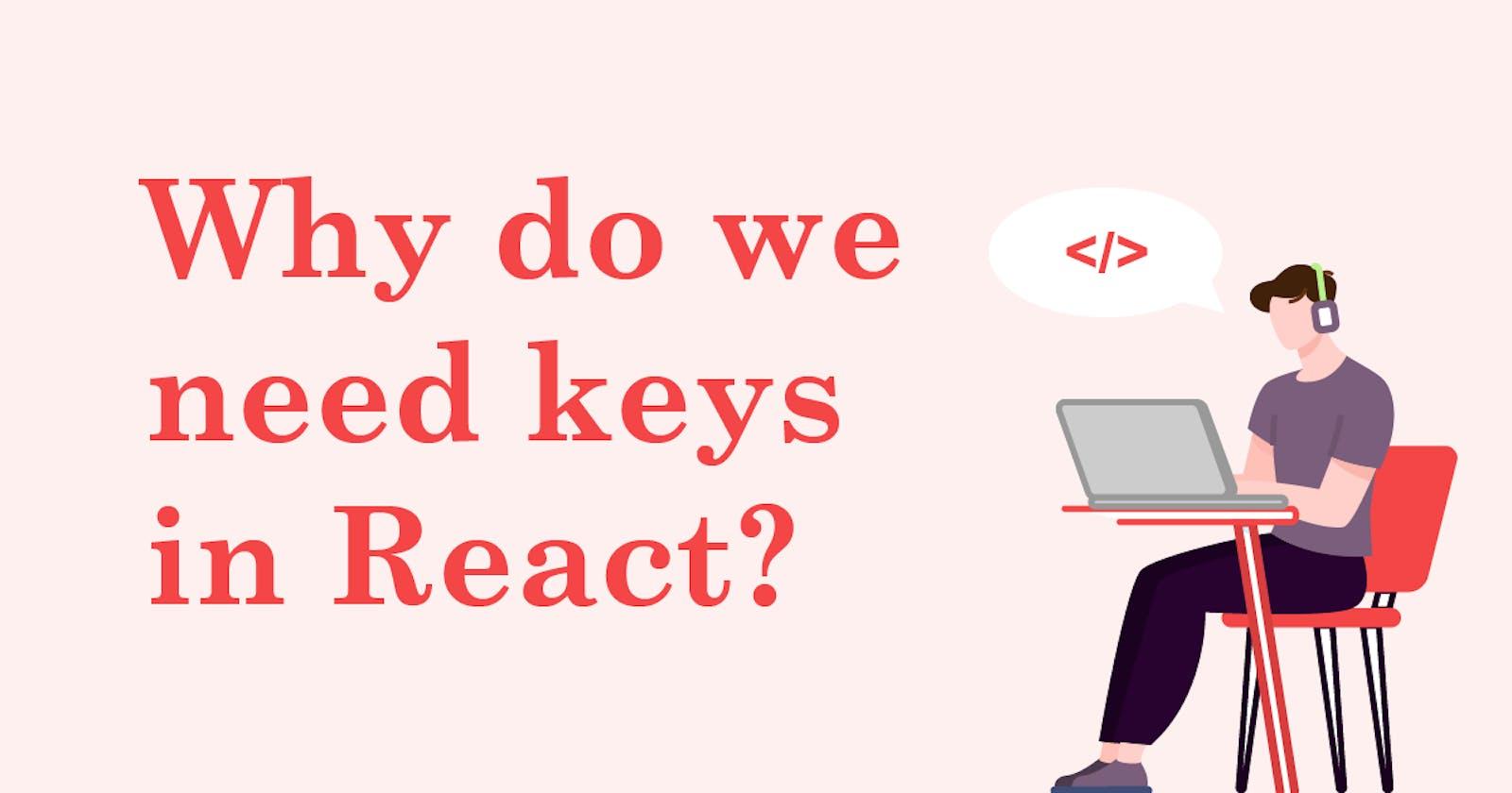 React & keys 🔑🔑🔑