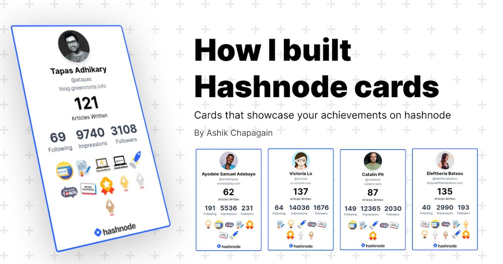 How I built Hashnode cards?