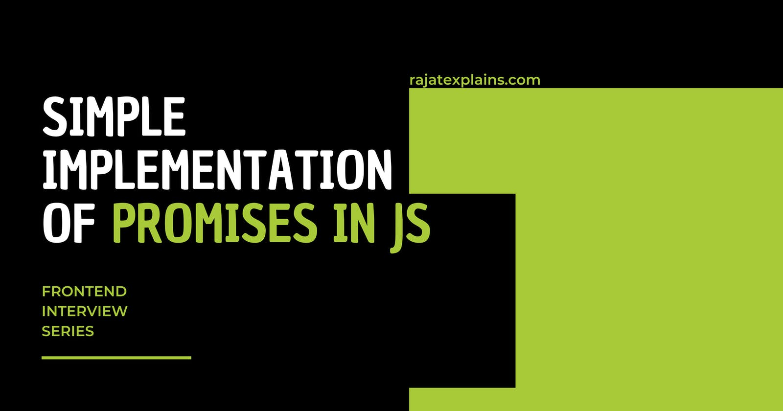 Easy Implementation of Promise in JS
