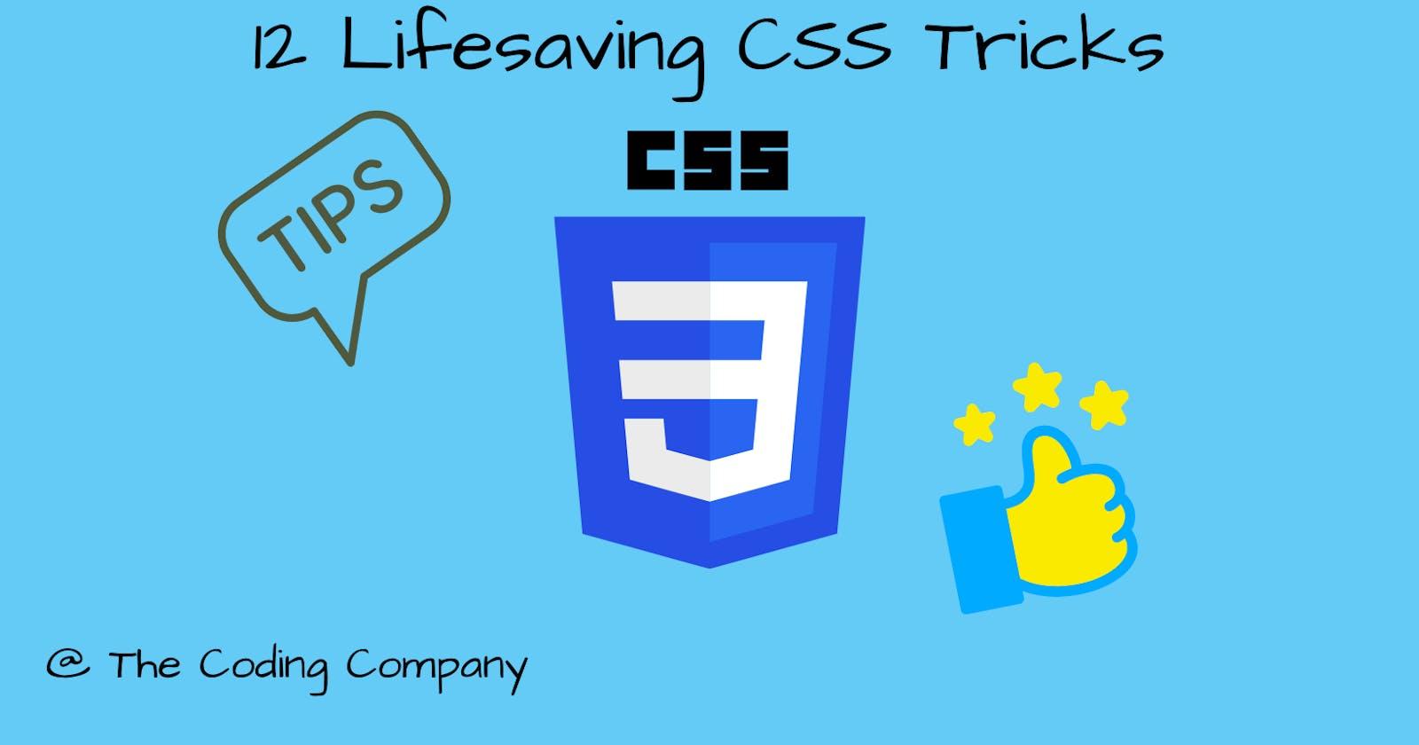 12 Lifesaving CSS tricks✨