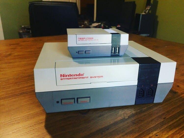 Original NES vs NESPi (image by TheCodingCouple.com)