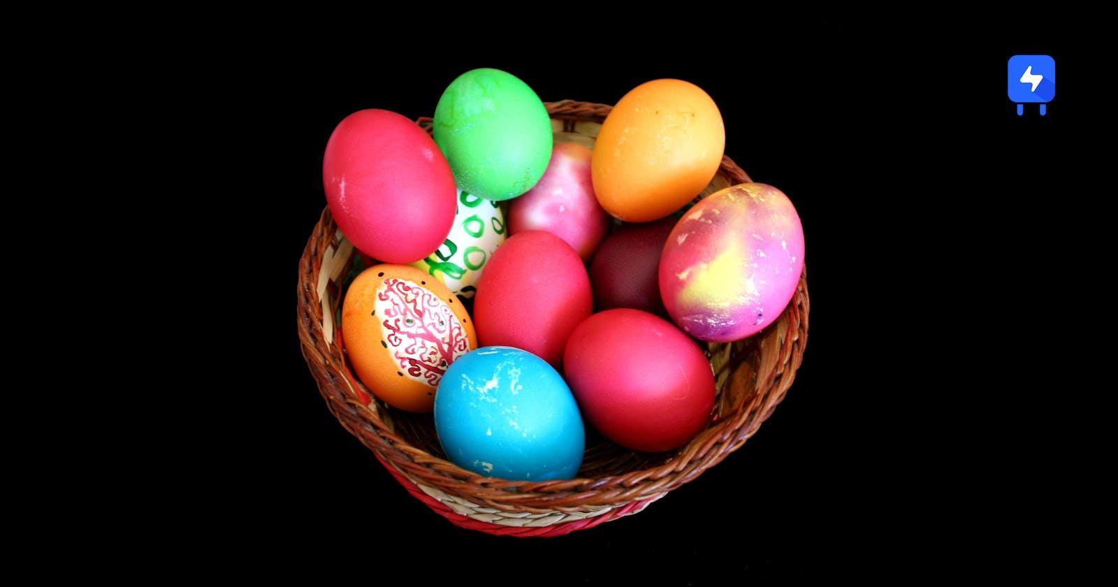 Easter eggs using React Rooks