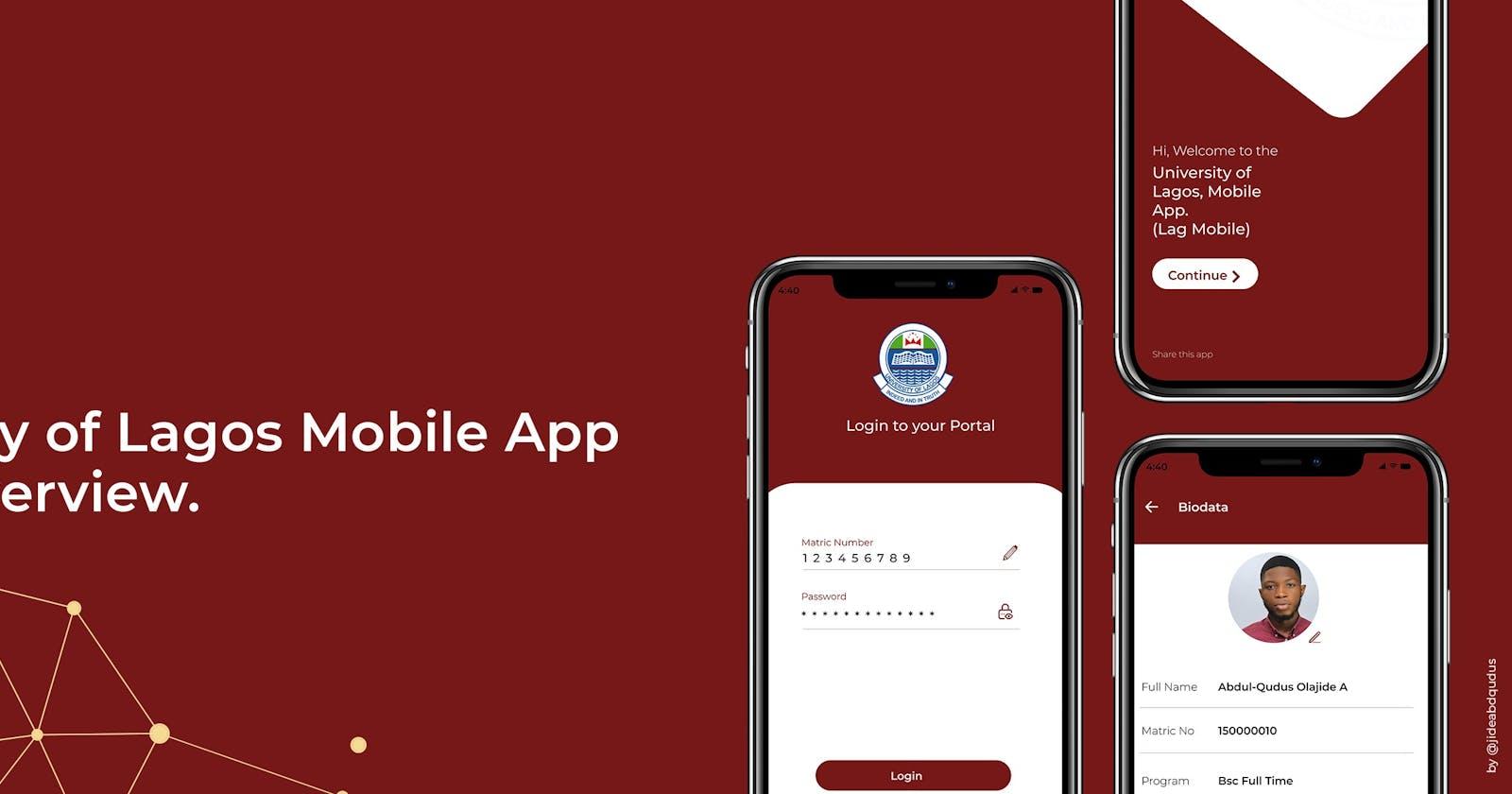 Lag Mobile App UI/UX Overview.
